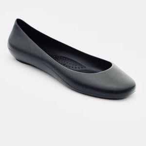 Okabashi Georgia Soft Jelly Ballet Flats Black
